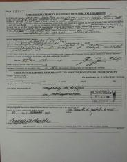 Officer's statements in support of warrantless arrest