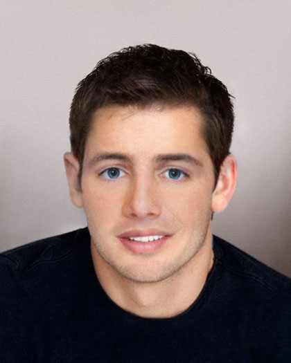 Age progression picture of Levi Frady