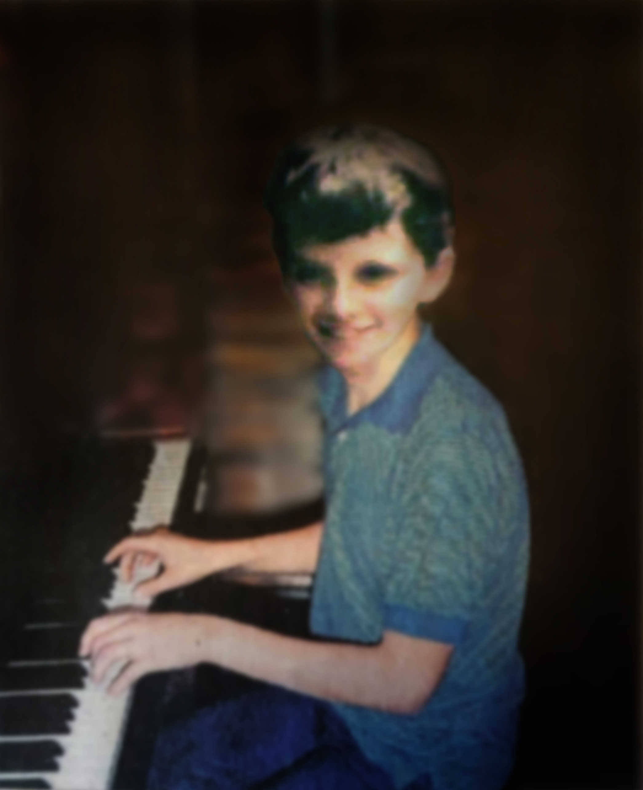 Levi at Piano